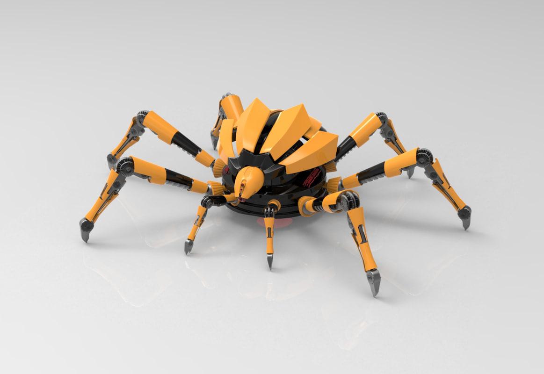 mechanical robot spider 3d max