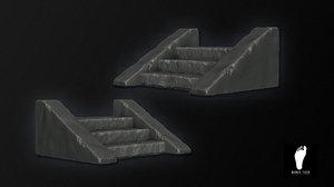 stone staircase obj