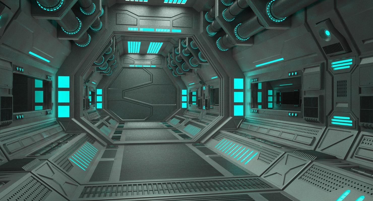3d model sci fi tunnel