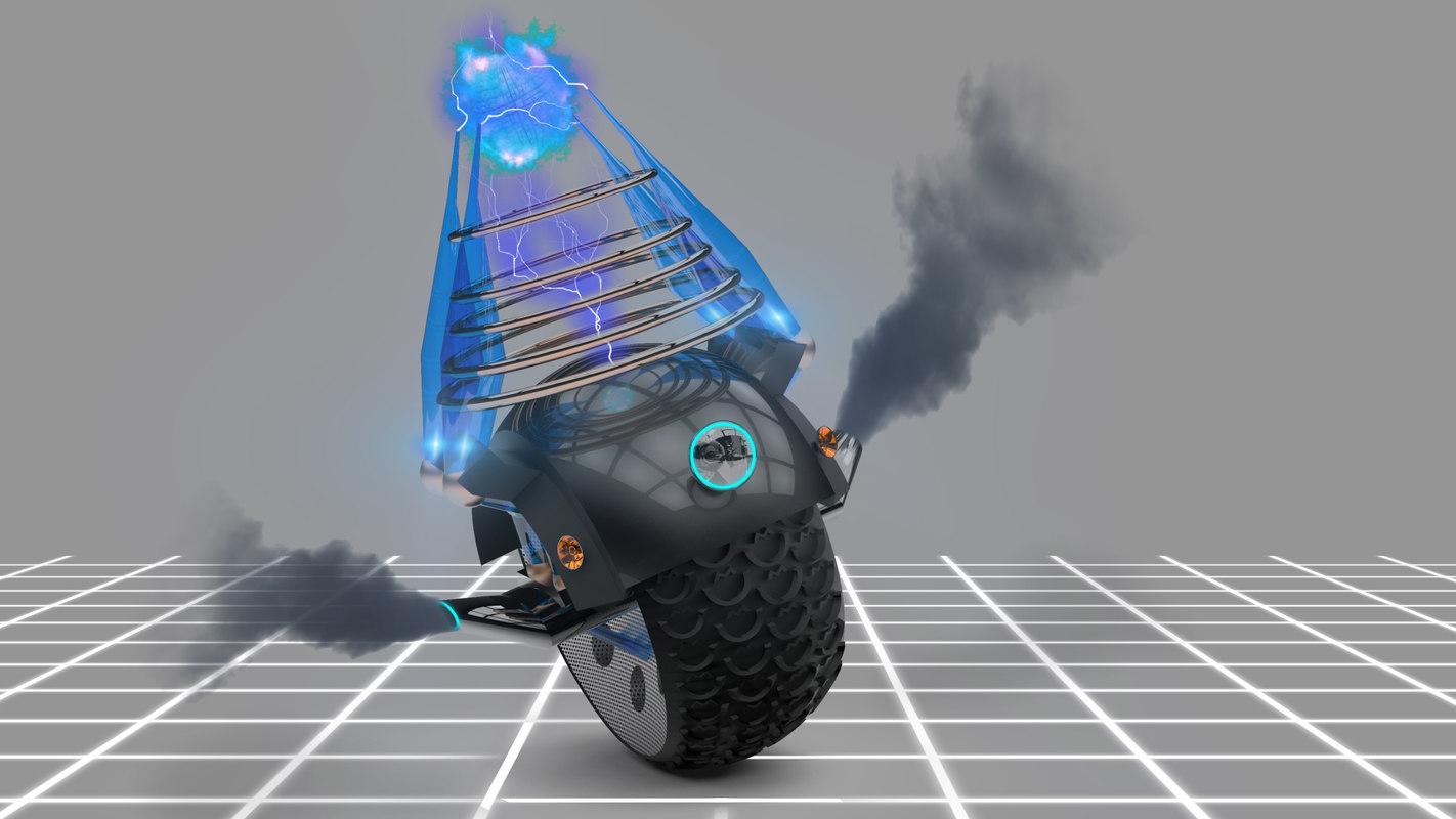 3d model robot motor