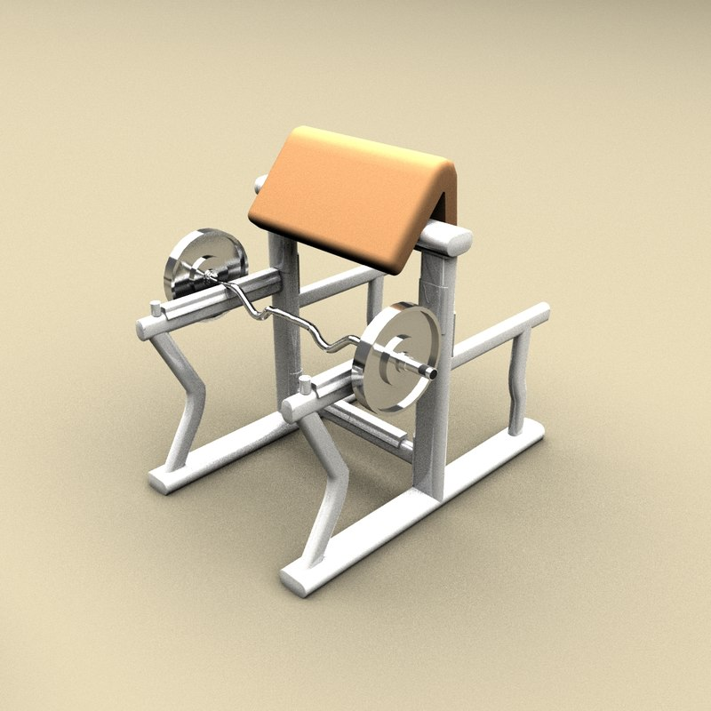 3d biceps stand