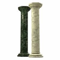 3d model marble column