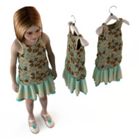 3d fashion child dressed
