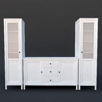 3d hemnes cabinet model