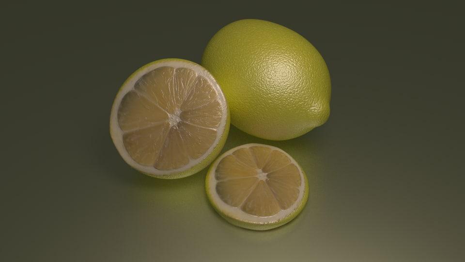 free lemon 3d model