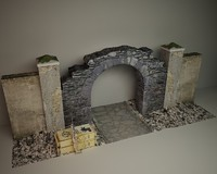 old wall 3d model