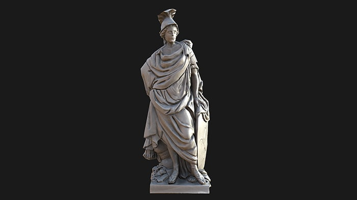 3d model europe statue
