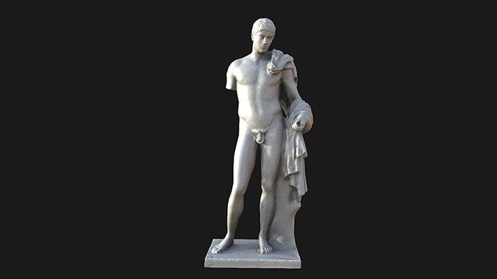 hermes statue 3d max