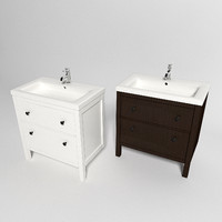 3d model ikea hemnes sink cabinet
