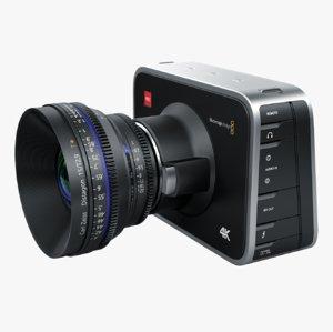 blackmagic camera black 3d model