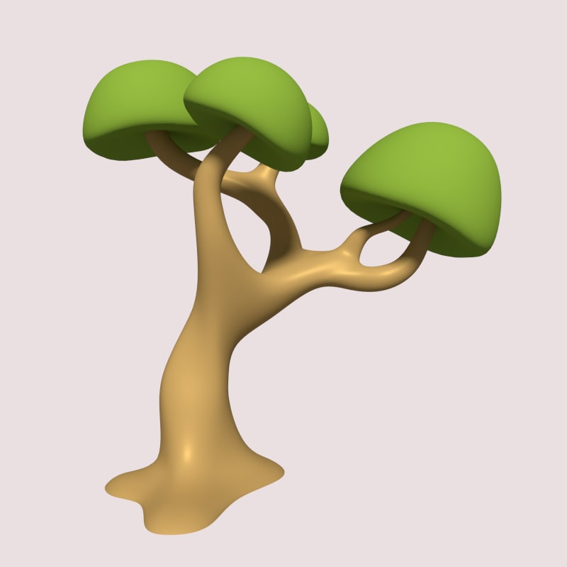 cartoon tree 3ds