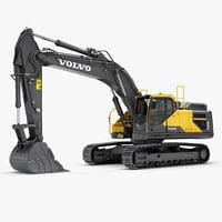 3d hydraulic excavator ec380el model