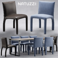 Table and chair natuzzi Hedi
