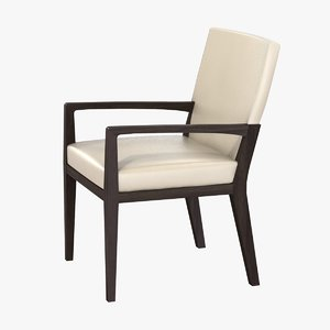 chair dining arm 3d 3ds
