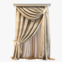 curtain draperies obj