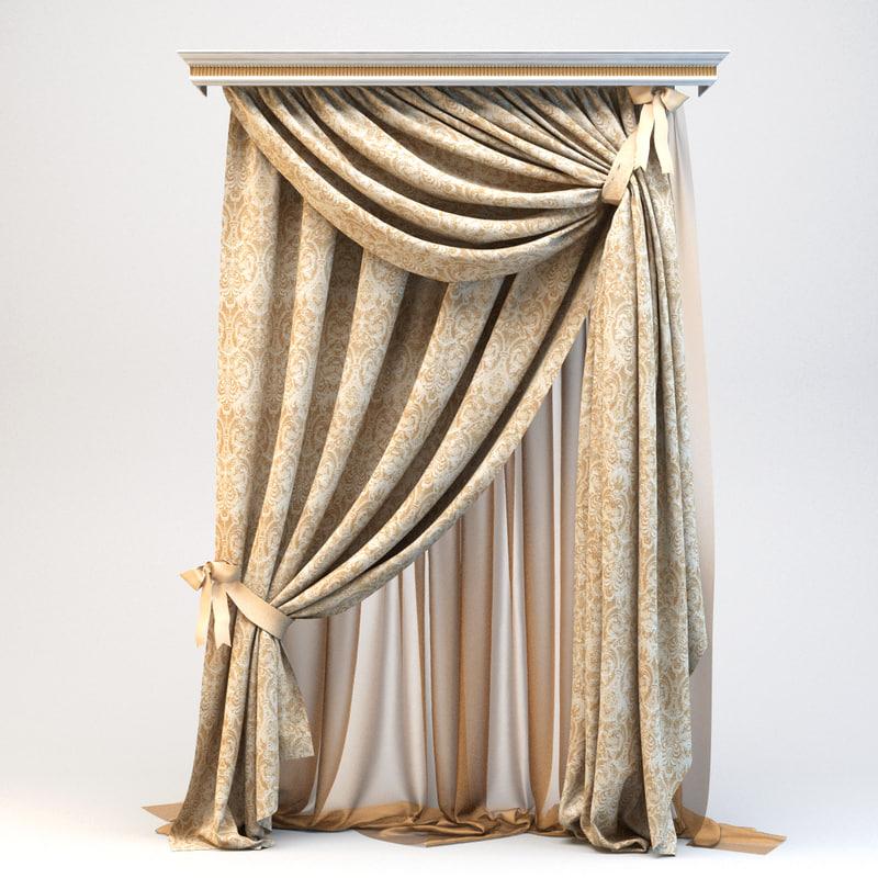 curtain draperies obj
