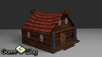 medieval city house 3d 3ds