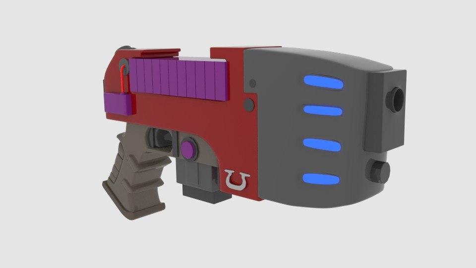 3d model plasma pistol
