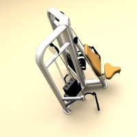 3d model shoulder press