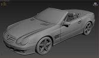 mercedes sl500 3d model