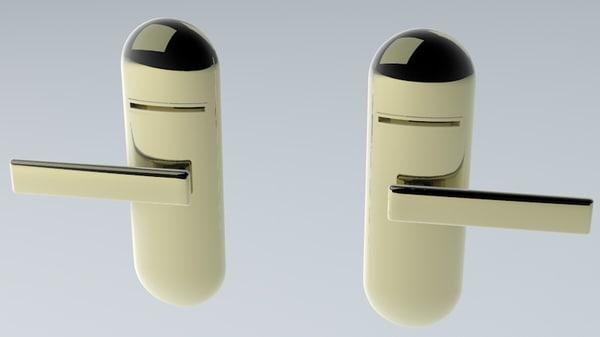 left right latch 3d model
