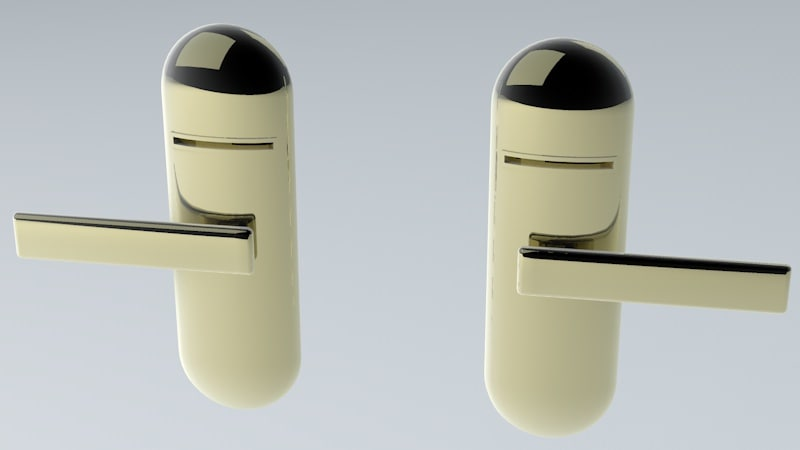 left right latch 3d model