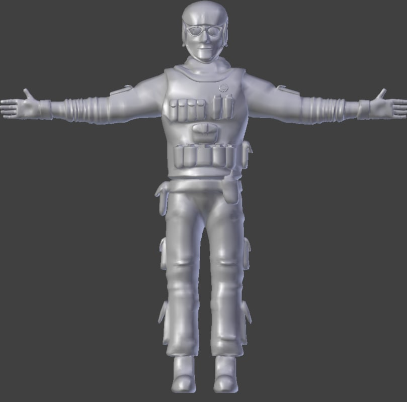 sculpt male 3d obj