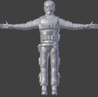 sculpt male 3d obj