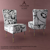 3d model creazioni valeria dining chair
