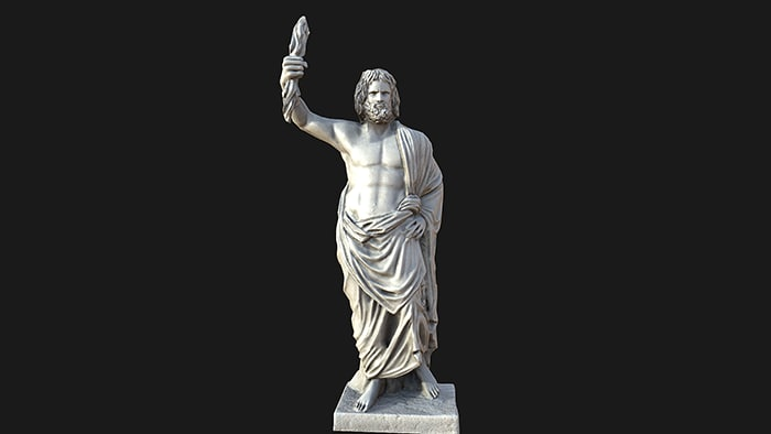 3d model jupiter statue