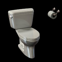 3d toilet close coupled model