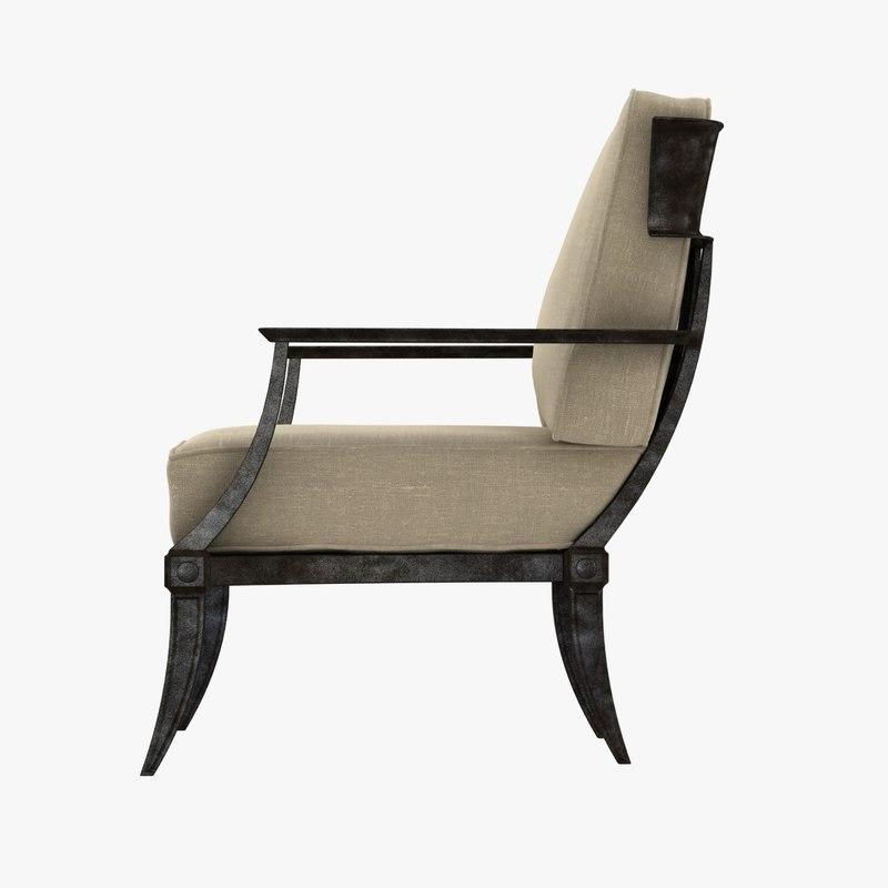 Restoration Hardware KLISMOS CLASSIC LOUNGE CHAIR & 3d chair restoration hardware klismos model