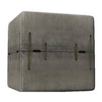 concrete traffic barrier with drain pipes