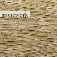 3d stone slate model