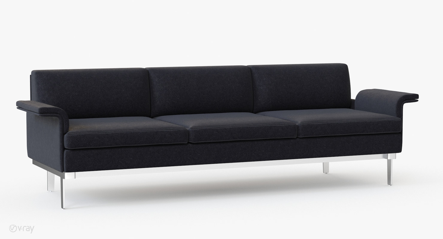 3d teknion studio envitta sofa