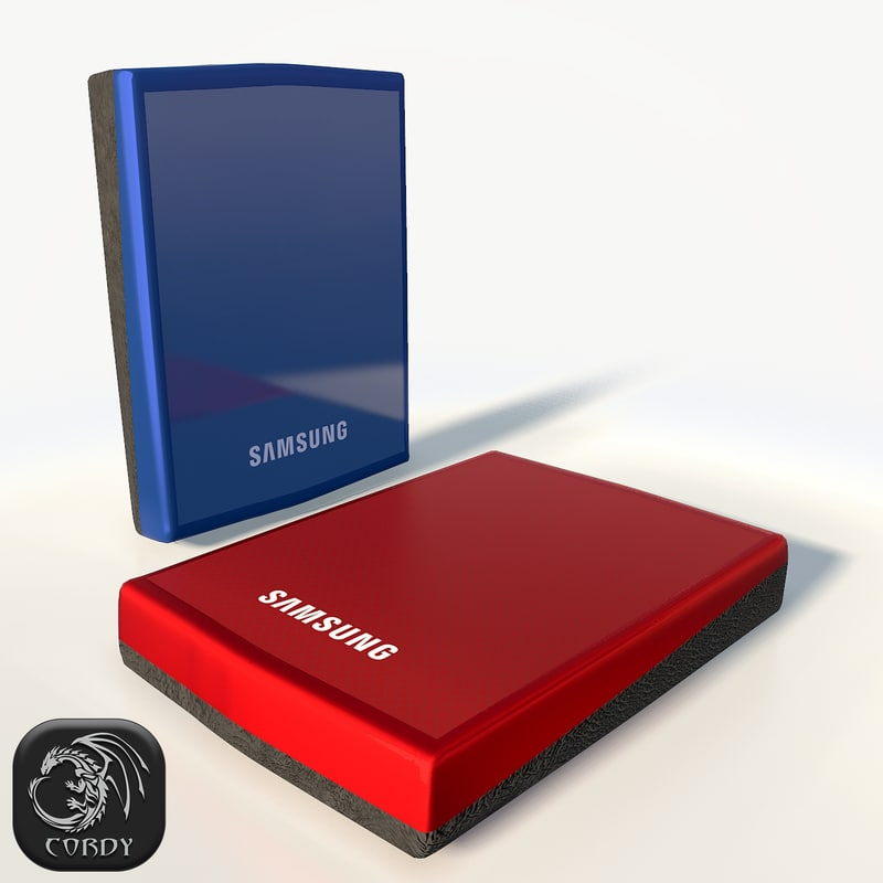 external hard drive samsung 3d model