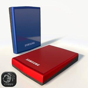 external hard drive samsung 3d model