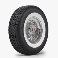 3d realistic classic wire wheel model