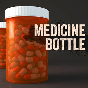 medicine bottle 3d 3ds