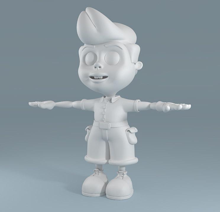3d cartoon child