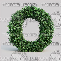 3d alphabet o buxus model