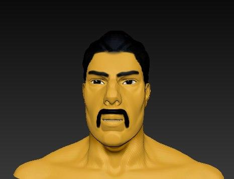 3d cartoon man caracter head