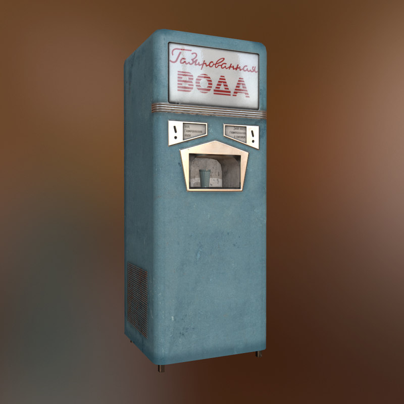 soviet soda machine 3d model