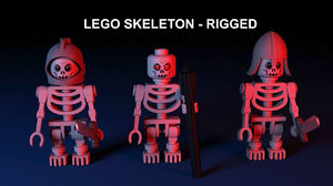 lego skeleton - 3d model
