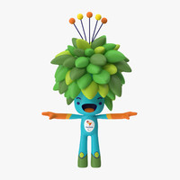 rigged rio mascot tom 3d max