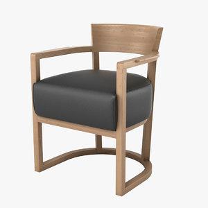 flexform barchetta chair 3d model