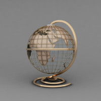 3d model of earth decor