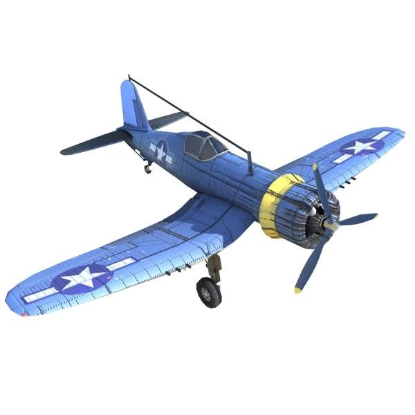 3ds wwii aircraft f4u corsair