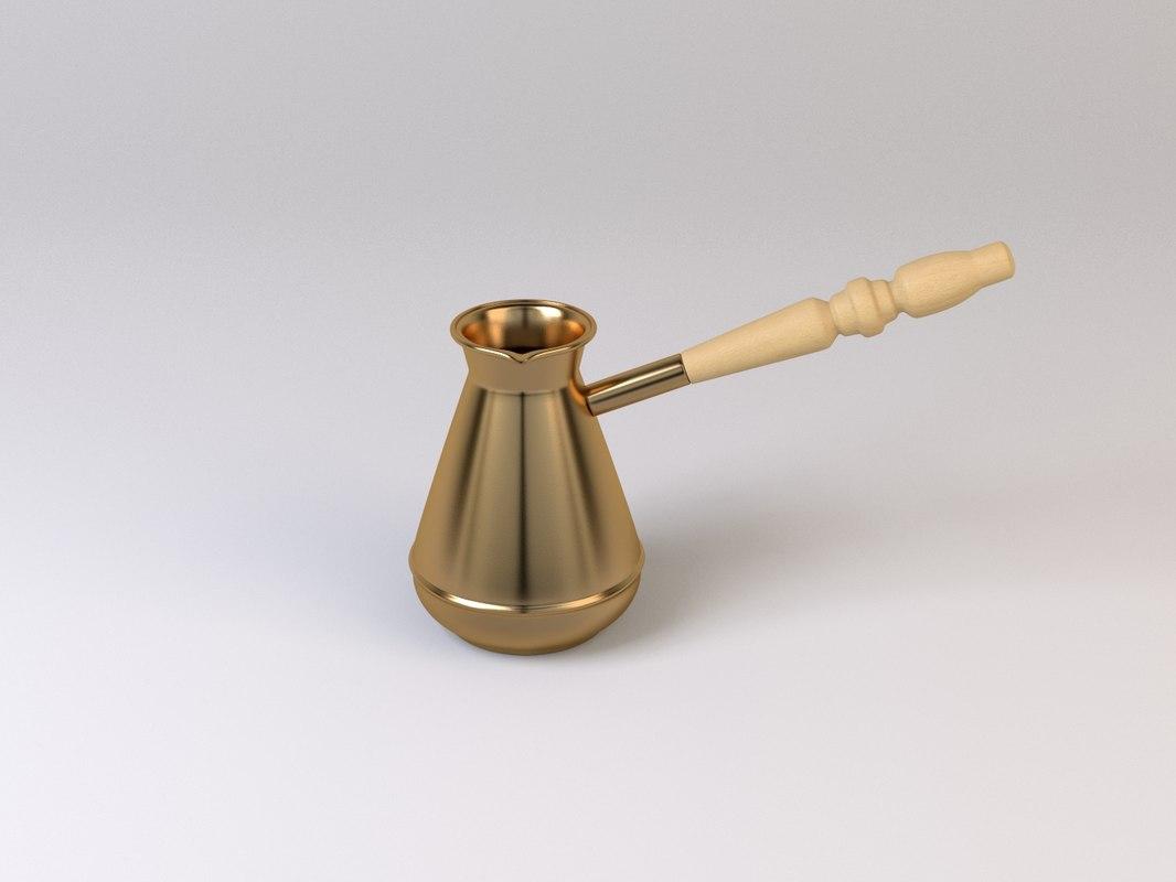 3d turkish coffee pot model