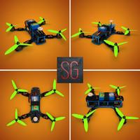zmr250 racing drone 3d c4d